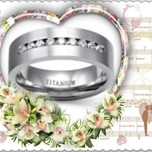 8 MM Stainless Steel Titanium Wedding Band Ring